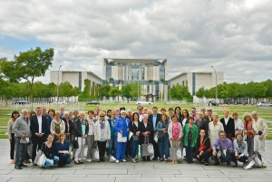 Besuchergruppe in Berlin