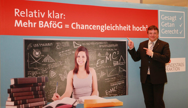 Für ein BAföG, von dem man wohnen, leben und lernen kann: BAföG-Reform macht's möglich