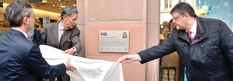 Broschüre zur Enthüllung der Mahntafel zur Erinnerung an den Sturm auf das Düsseldorfer Volkshaus