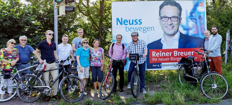 """SPD-""""Fahrradgipfel"""": Radschnellweg und neuer Brückenschlag zwischen Neuss und Düsseldorf sollen schnell vorangebracht werden"""
