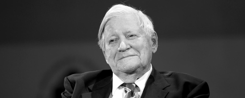 Zum Tod von Altkanzler Helmut Schmidt