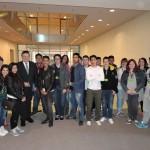 Gruppenfoto mit Schülern der Jan-Daniel-Georgens-Schule nach dem Gespräch im Bundestag