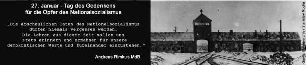 27. Januar - Gedenktag für die Opfer des Nationalsozialismus