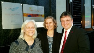 Erny Hildebrand, Ute Ladewig und Andreas Rimkus
