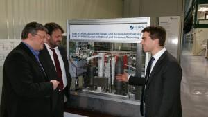 Andreas Rimkus MdB und Guido van den Berg MdL während ihres Besuchs im Forschungszentrum Jülich