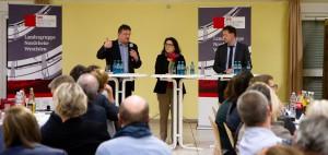 Andreas Rimkus MdB, Gülistan Yüksel MdB und Düsseldorfs Stadtdirektor Burkhard Hintzsche