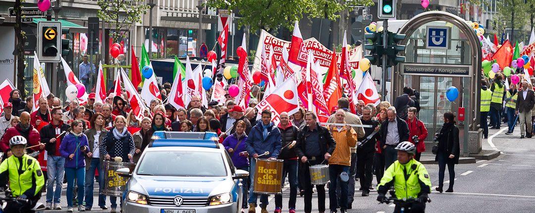 """Aufruf zum 01. Mai 2016 in Düsseldorf """"Zeit für mehr Solidarität"""""""