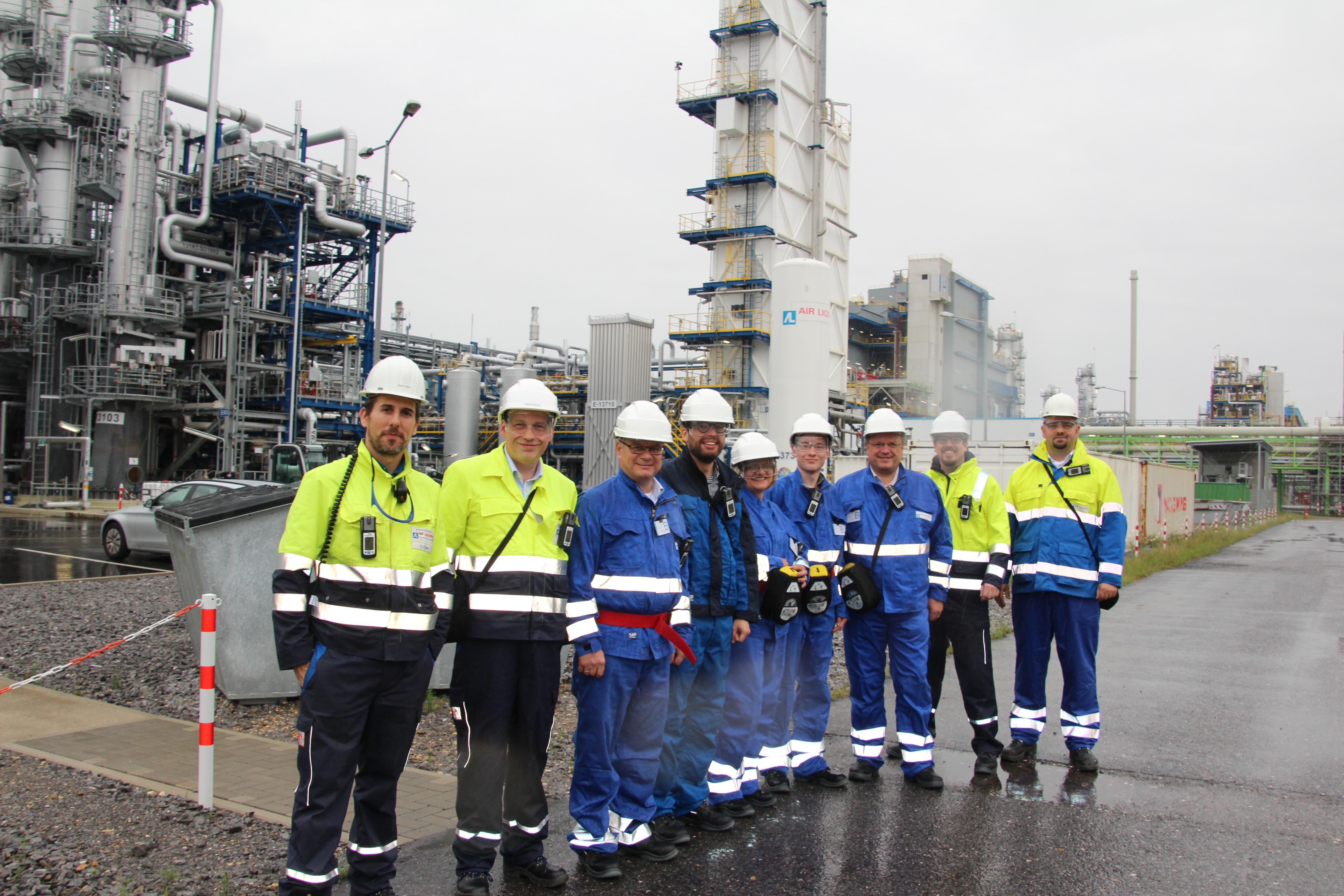 """Besichtigung des Chemparks Dormagen: """"Wasserstoff bietet große Chancen für die Energiewende und für saubere Luft in unseren Städten!"""""""