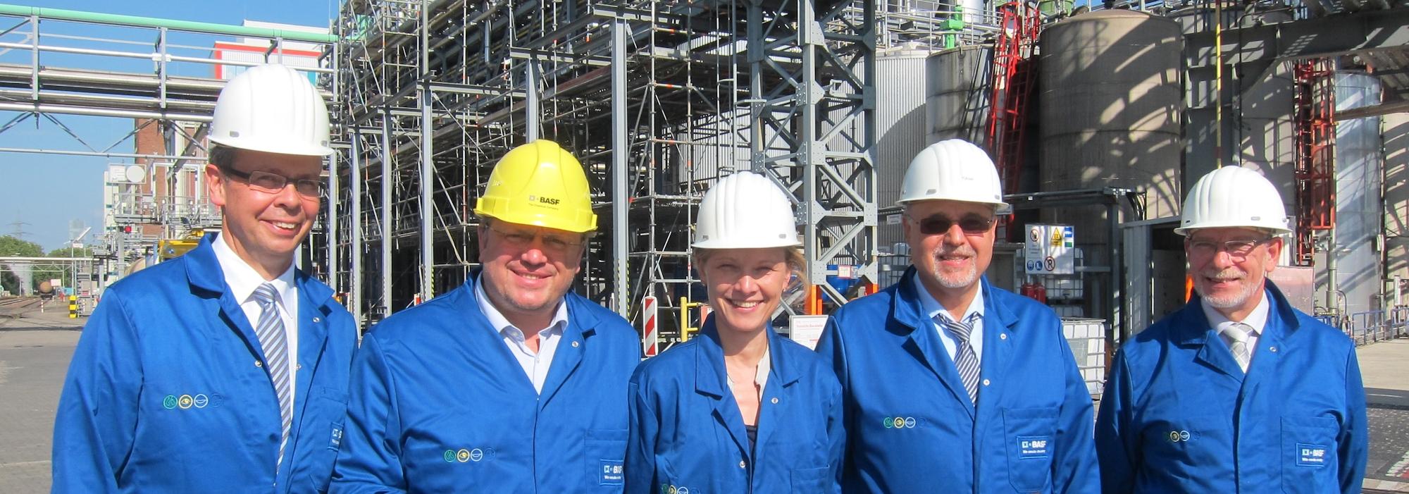 Besuch beim BASF-Werk in Düsseldorf-Reisholz