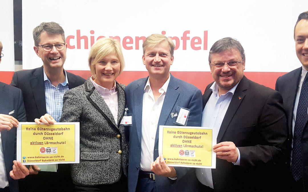 Lärmschutz an Zugstrecken: Andreas Rimkus begrüßte Düsseldorfer Delegation beim Schienengipfel in Berlin