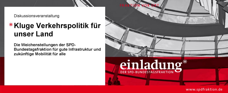 """Einladung: """"Kluge Verkehrspolitik für unser Land"""" Diskussionsveranstaltung in Düsseldorf"""