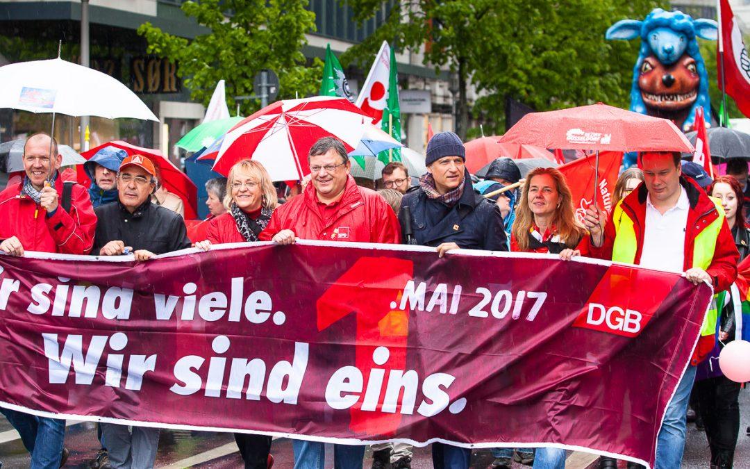 Tag der Arbeit am 01. Mai in Düsseldorf – #gemeinsamgerecht