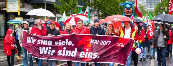 Tag der Arbeit am 01. Mai in Düsseldorf - #gemeinsamgerecht