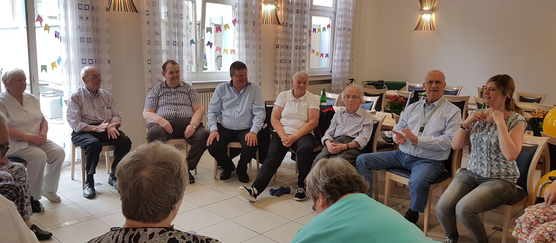 Praxistag im St. Hubertusstift der Caritas in Bilk