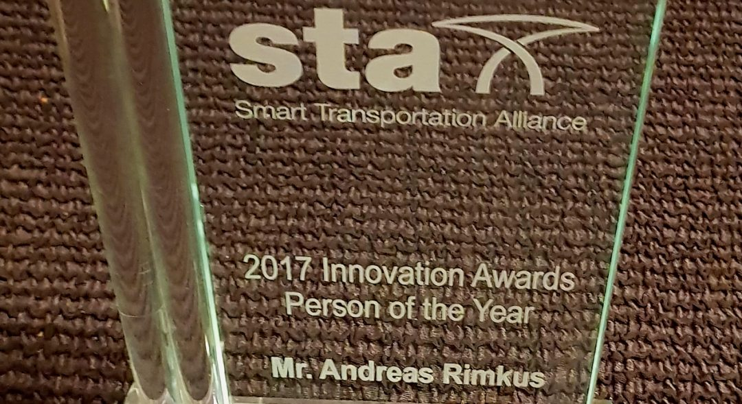 "Engagement für die Vision Smart City: Andreas Rimkus in Brüssel als ""Person of the Year"" ausgezeichnet!"