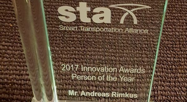 """Engagement für die Vision Smart City: Andreas Rimkus in Brüssel als """"Person of the Year"""" ausgezeichnet!"""