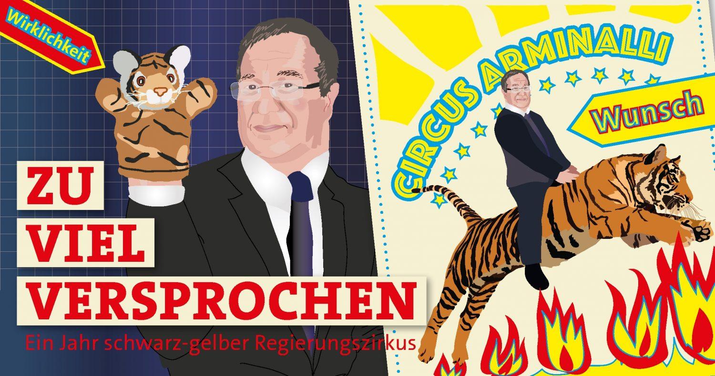 """""""Zu viel versprochen: Ein Jahr schwarz-gelber Regierungszirkus in NRW"""""""