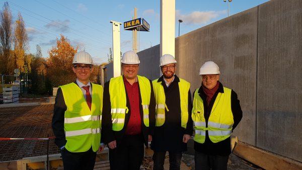 Baustellenbesichtigung: Düsseldorfs zweite Wasserstoff-Tankstelle entsteht im Düsseldorfer Süden