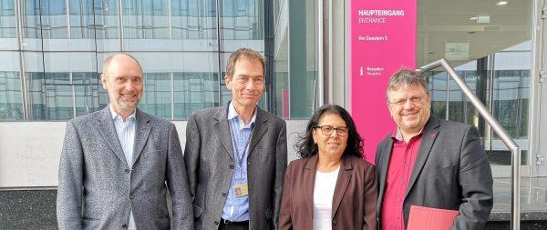 Gülistan Yüksel MdB und Andreas Rimkus MdB zu Besuch beim Betriebsrat von T-Systems International in Düsseldorf