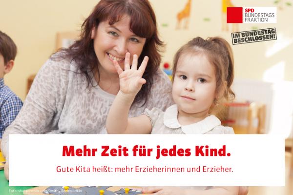 Bundestag hat das Gute-Kita-Gesetz beschlossen: Qualität und Teilhabe für jedes Kind!