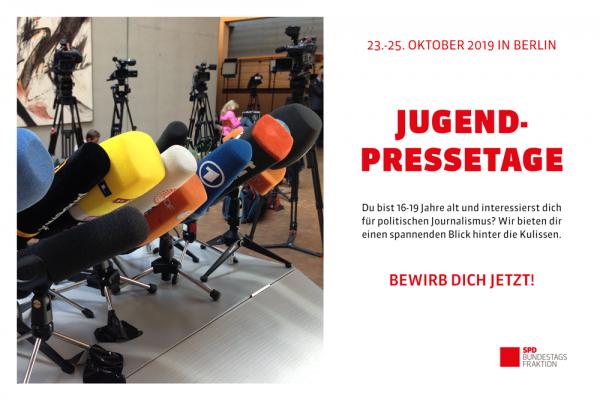 Schülerzeitungsredakteur*in aus Düsseldorf gesucht! Jetzt bewerben: Jugendpressetage 2019 vom 23. bis 25. Oktober in Berlin