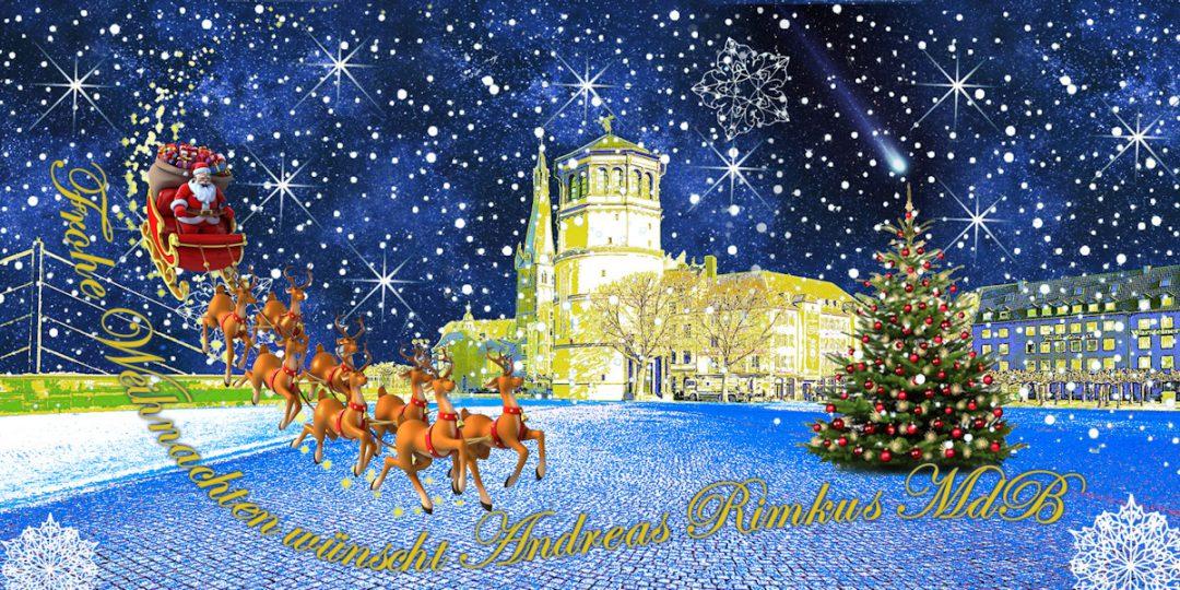 Frohe Weihnachten, erholsame Feiertage und einen guten Start in das neue Jahr 2020
