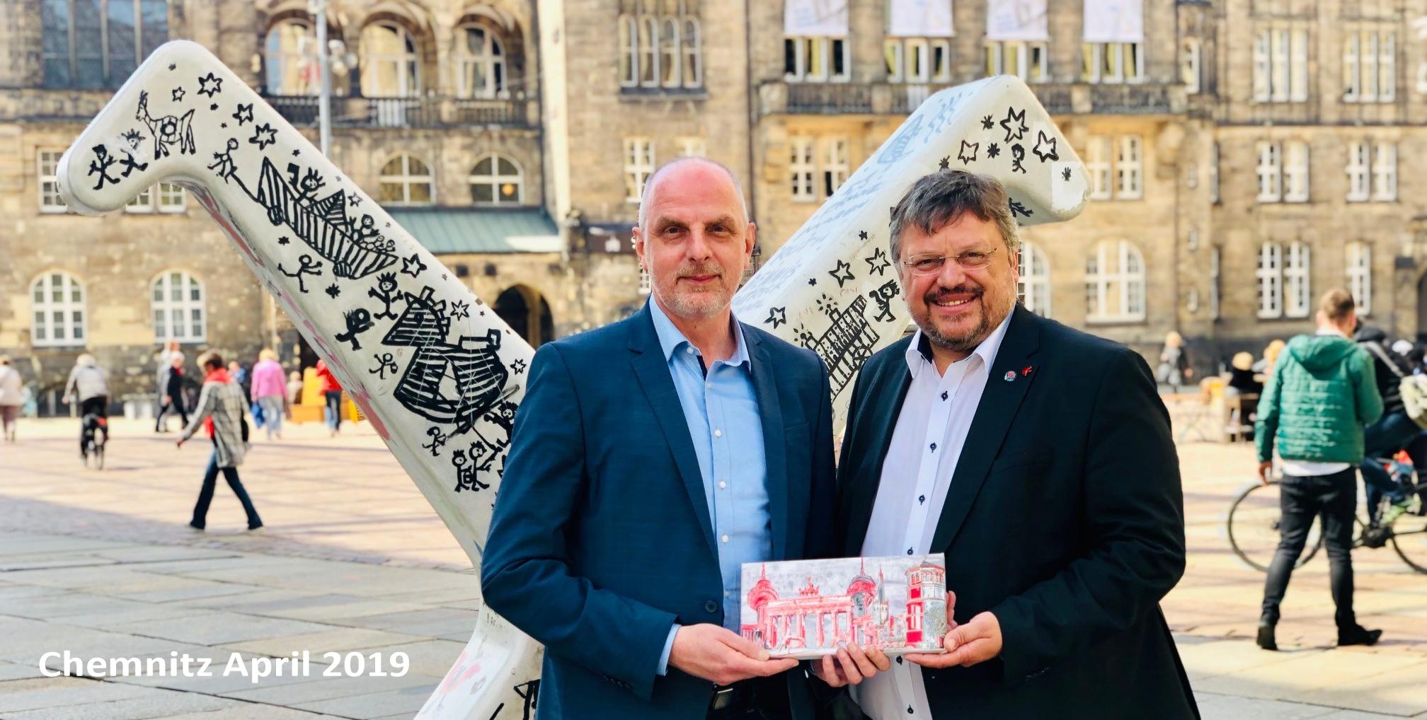 Andreas Rimkus MdB gratuliert Düsseldorfs Partnerstadt Chemnitz zur Auswahl als Europäische Kulturhauptstadt 2025