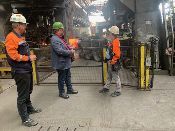 Industriepolitik und Energiewende: Andreas Rimkus MdB im Dialog mit dem Düsseldorfer Stahlrohrhersteller Vallourec