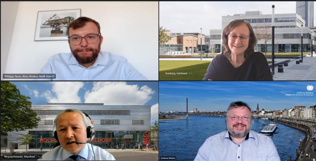 Gespräch mit der Hochschule Düsseldorf zur Forschungsförderung des Bundes an Hochschulen für angewandte Wissenschaften